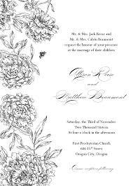 sle wedding programs outline formal invitation clipart 28