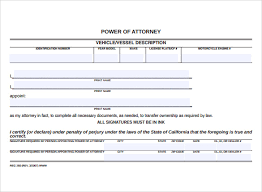blank power of attorney form 7 free samples examples format