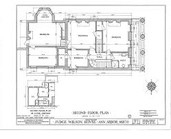 Second Floor Addition Floor Plans File Wilson House Ann Arbor Habs Drg3 Second Floor Plan Jpg