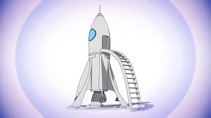 cartoon rocket station cinema 4d sketch and toon 3d model youtube