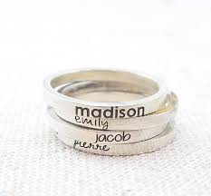 personalized rings for mothers custom name rings gift for personalized ring