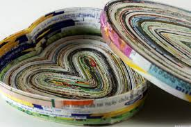 privacy policy dishout craft of the day make a heart dish out of magazine pages huffpost