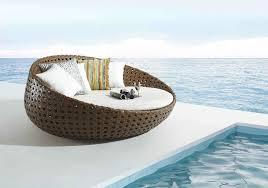 round sunbed outdoor sun lounge round chaise lounge
