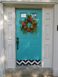 Teal Front Door by Chevron Decor Kick Plate Door Front Door Kick Plates Pinterest