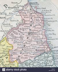 map of rothbury map of northumberland county from original geography textbook
