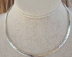 collar necklace sterling silver images Silver collar etsy jpg