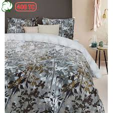 400tc cotton sateen elaina green quilt cover set by bedding house