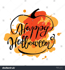 happy halloween greeting card lettering cards stock vector