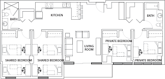 4 bedroom 2 bath floor plans floor plans 922 place housing tempe az
