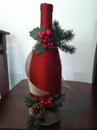 botella navideña botellas decoradas pinterest christmas