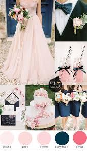 blue wedding blush pink and navy blue wedding inspiration