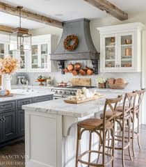 how to decorate a rustic kitchen farmhouse kitchen fall decorating ideas sanctuary home decor