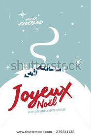 joyeux noel means merry christmas french stock vector 239341138