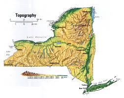 Map Of Manhattan New York City by Detailed Topographic Map Of New York State New York State