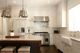 Kitchen Yellow Walls White Cabinets by Rectangle Silver Refrigerator What Color Backsplash With White