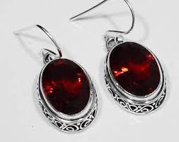 garnet earrings garnet earrings etsy