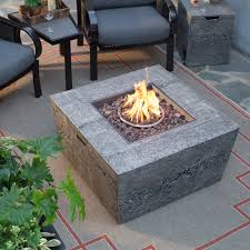 Propane Fire Pit Burners Real Flame Antique Stone Square Propane Fire Pit Table Hayneedle