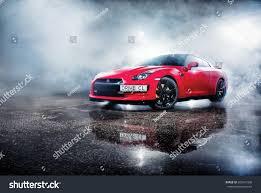 red nissan sports car vinnitsa ukraine 08 december 2013 red stock photo 603437336