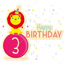 cute happy birthday card template editable u2014 stock vector