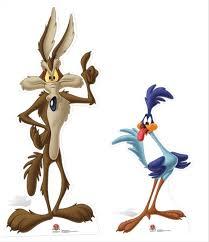 image wile coyote road runner looney tunes cardboard