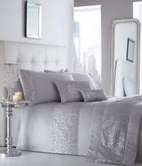 Duvet Quilt Cover Luxury Sequin Diamante Duvet Quilt Cover Bedding Linen Set
