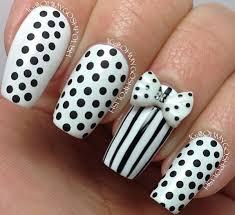 64 tremendous white u0026 black nail art design u0026 styles picsmine