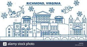 usa virginia richmond winter city skyline merry and