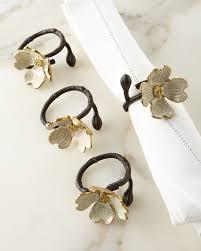 ring set michael aram dogwood napkin ring set of 4