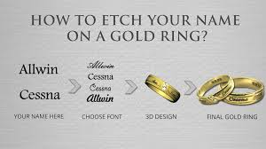 how to engrave a ring how to get name engraved rings for your wedding engagement a