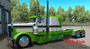 peterbilt and kenworth peterbilt 389 green skin mod american truck simulator mod ats mod