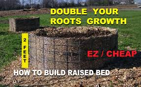 Buy Soil For Vegetable Garden by How To Build A Raised Wood Chip Organic Gardening Bed For