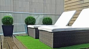 Fake Grass For Patio Artificial Grass Balcony Installation One Decor