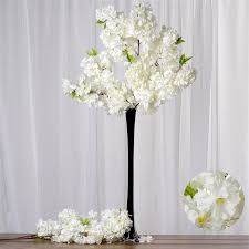 cherry blossom flowers 42 artificial silk cherry blossom flower branches wedding vase center
