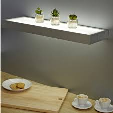 Floating Glass Shelves For Bathroom Bathroom Floating Shelf Lights And A Door Shelves Le
