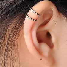 cartilage earrings ear cuff wrap stud 2 3 row helix cartilage earrings silver plated