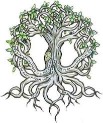 celtic tree design i like the names on the roots if i did a