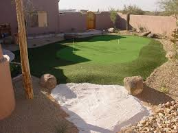 Backyard Putting Green Designs by Turf And Putting Greens Dream Retreats Arizona U0027s Premier