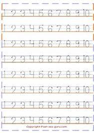 numbers tracing worksheets 6 kindergarten printable coloring