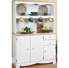 furniture traditional white kitchen buffet with beadboard cabinet