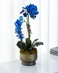 blue orchids richard collection majestic blue orchids faux floral