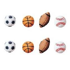 sports cake toppers sports balls cupcake toppers