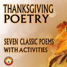 thanksgiving poetry and activities with beautiful graphics and
