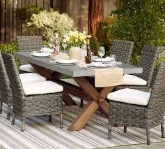 Outdoor Table And Chair Set Abbott Rectangular Dining Table U0026 Huntington Chair Set Pottery Barn