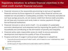 Formal Credit Policy The Future Regulation Of Retail Credit Markets Presenter Ingrid