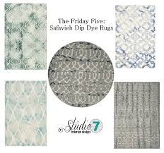 Safavieh Rug by Studio 7 Interior Design The Friday Five Safavieh Dip Dye Rugs