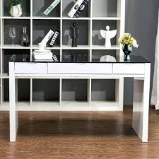 Glass Top Computer Desks For Home White High Gloss Home Office Desk Viva High Gloss Office Desk