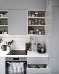 kitchen cupboard interior storage ikea veddinge grey kitchen clever storage solutions for small