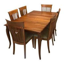 wood dining room sets vintage used dining table chair sets chairish
