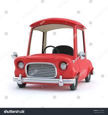 cartoon car 3d render red cartoon car front stock illustration 225760786