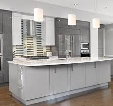 Modern Kitchen With White Appliances Kitchen Design Gray Kitchen Cabinets White Appliances Kitchen